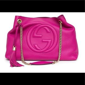 Fuchsia Gucci Soho Shoulder bag